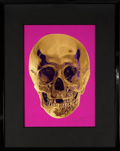 Damien Hirst, ''Till Death Do Us Part, Skull, Fuchsia/Gold ', 2012