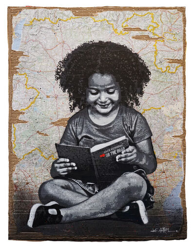 Jef Aérosol, 'READING KEROUAC', 2020