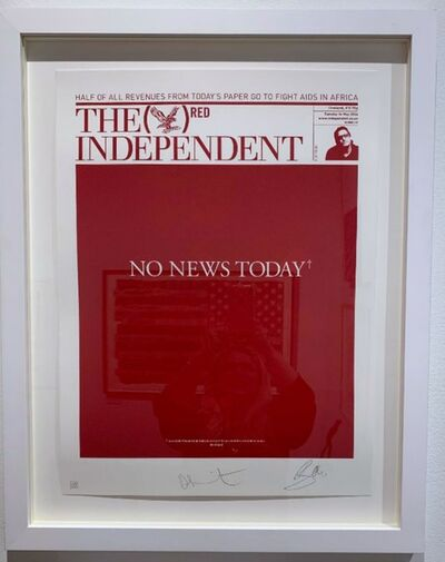 Damien Hirst, 'NO NEWS TODAY*  [Hand signed by BOTH Damien Hirst and Bono]', 2008