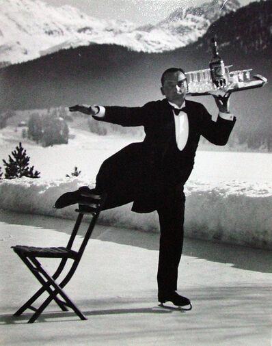 Alfred Eisenstaedt, 'Ice Skating Waiter', 1932