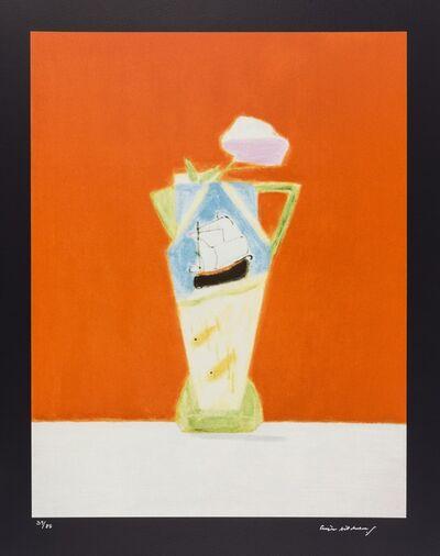 Craigie Aitchison CBE RA, 'Still Life On Vermillion', 2008