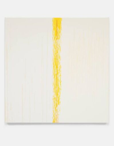 Pat Steir, 'Yellow and White', 2018