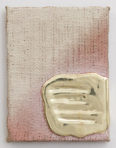 Nancy Lorenz, 'Yellow Gold Pigment Burlap', 2014