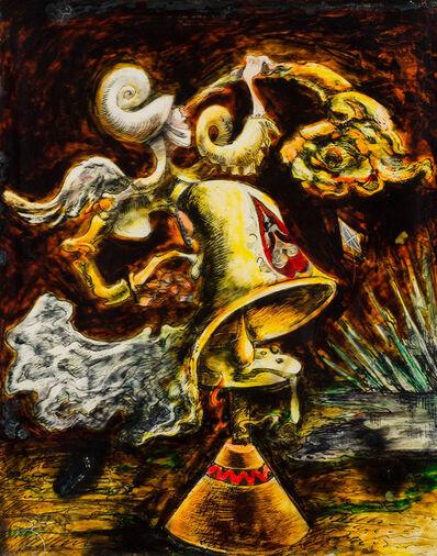 Kurt Seligmann, 'Automne trompette de fourrure (Le carillon muet) aka Trumpet of Fur & Kite', 1938