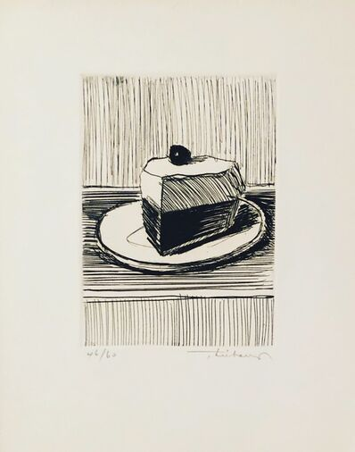 Wayne Thiebaud, 'Pie Slice ', 1962