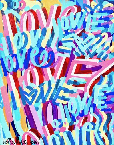 CHRIS RIGGS, 'Love Canvas 9', 2018
