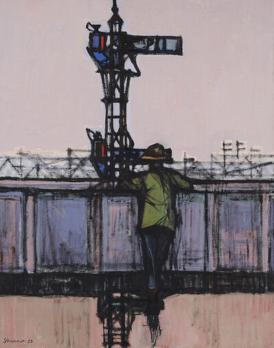 Michael Shannon, 'Man watching trains', 1956