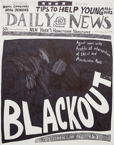 Aleksandra Mir, 'Blackout (7 July 1999)', 2007