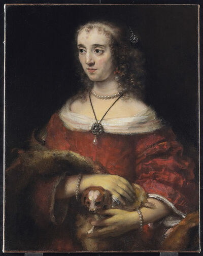 Rembrandt van Rijn, 'Portrait of a Lady with a Lap Dog', 1662-1665