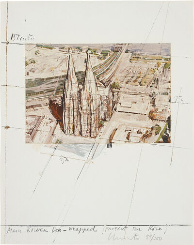 Christo and Jeanne-Claude, 'Mein Kölner Dom, Wrapped, Project for Köln, from Five Urban Projects', 1985