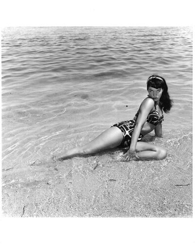 Bunny Yeager, 'Bettie Page, Miami Beach, Fl.', 1954