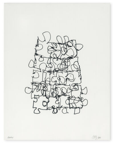 Frank Gehry, 'Puzzled #6 (Black State)', 2012