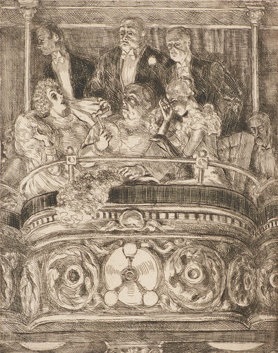 Reginald Marsh, 'Box at the Metropolitan', 1934