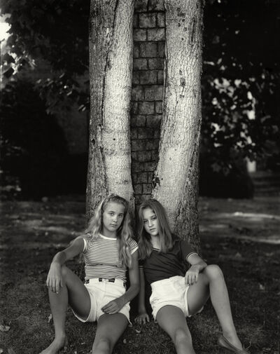 """Sally Mann, 'Untitled from the """"At Twelve"""" Series, Karee and Kathryn and Split Tree,', 1983-1985"""