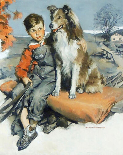 Harold Anderson, 'Boy with Dog'