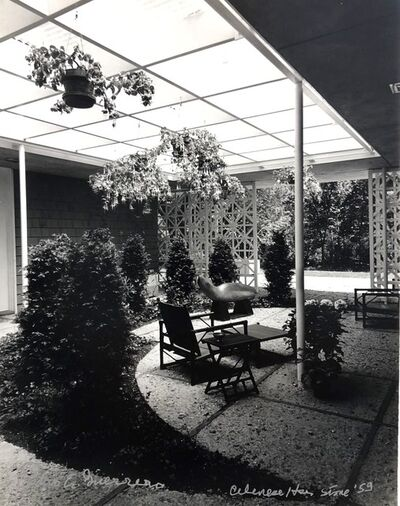 Pedro E. Guerrero, 'Celanese House, New Canaan, CT Edward Durell Stone, Architect (Set of 2 Prints, Foyer and Garden)', 1959