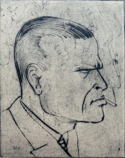 Otto Dix, 'Selbstbildnis (mit Zigarette)', 1922