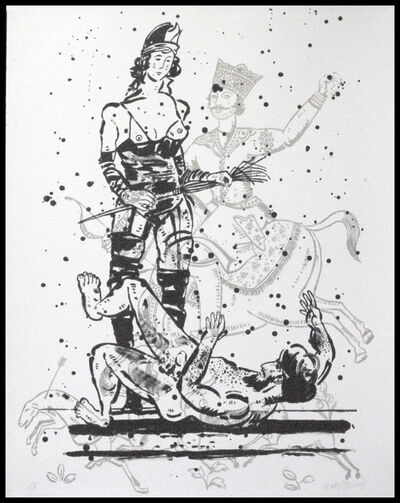 Nicky Nodjoumi, 'Language of Violence Version 1', 2018