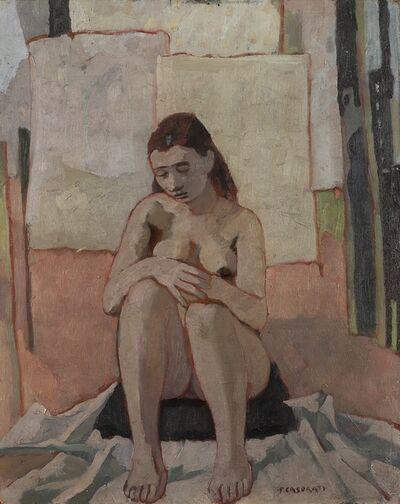Felice Casorati, 'Nudo seduto', 1942