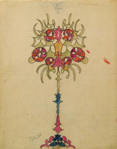 Giacomo Balla, 'Studio per lampada; motivo decorativo', ca. 1919