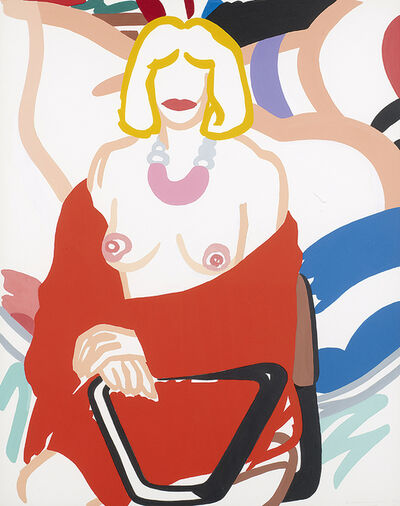 Tom Wesselmann, 'Study for Claire putting on robe', 1992