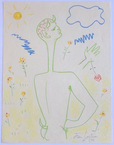 Jean Cocteau, 'Un Faune Nu (Nude Faun)', 1957