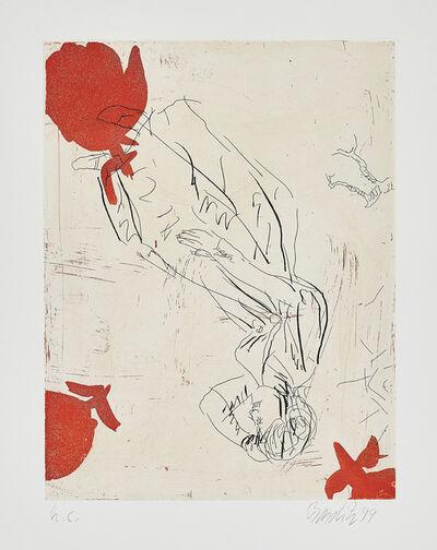Georg Baselitz, 'Melancholie, drei Rosen (Melancholy, Three Roses)', 1999