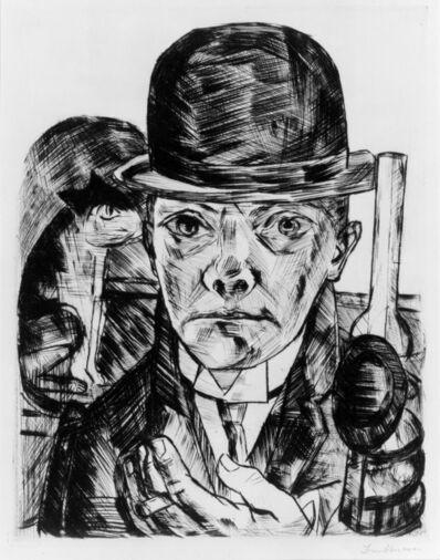 Max Beckmann, 'Self-Portrait in Bowler Hat', 1921