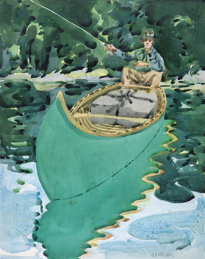 Neil G. Welliver, 'Study for Man in a Canoe', 1965