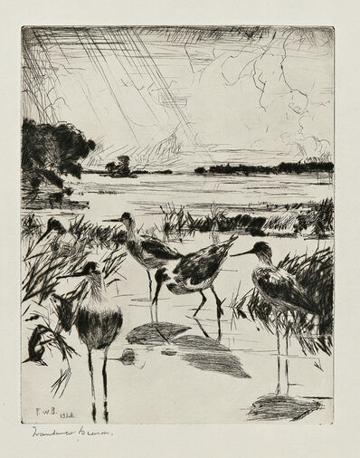 Frank Weston Benson, 'Yellowlegs in Sunlight', 1928