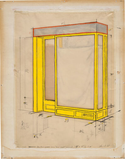Christo, 'Store Front (Mandarin Yellow)', 1965
