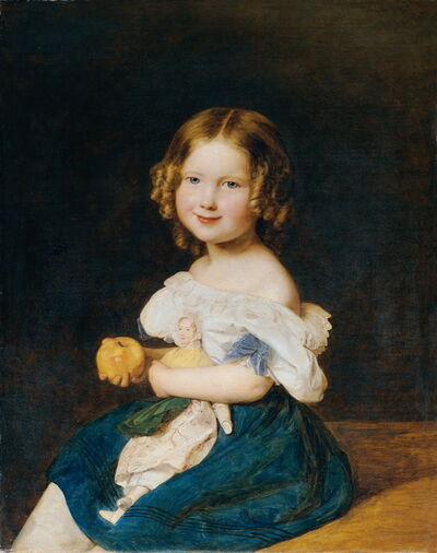 Ferdinand Georg Waldmüller, 'The Daughter of Johann and Magdalena Werner', 1835