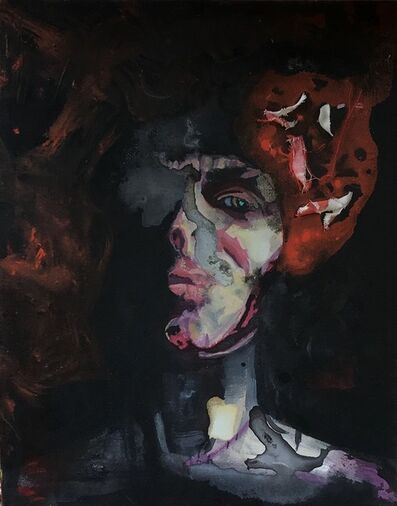 Cathy O'Reilly Hayes, 'Self Portrait with Brain on Fire', 2021