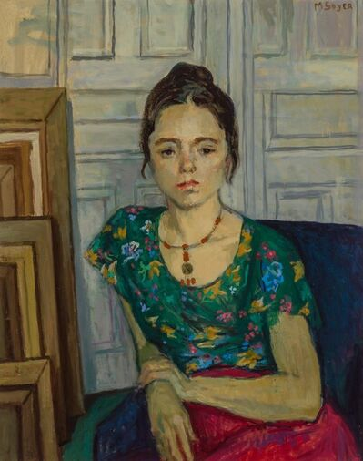 Moses Soyer, 'Girl with Necklace'