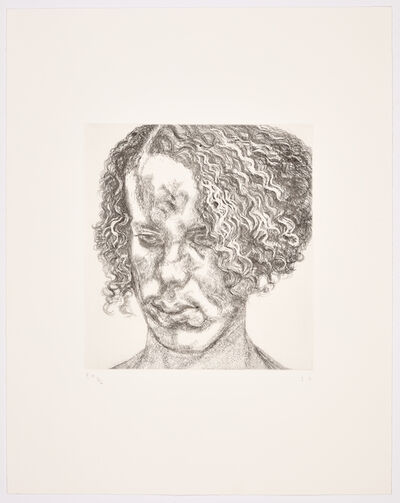 Lucian Freud, 'Girl with Fuzzy Hair', 2004
