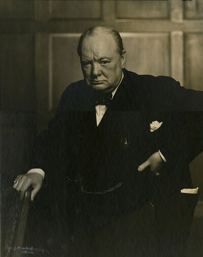 Yousuf Karsh, 'Portrait of Winston Churchill', ca. 1941