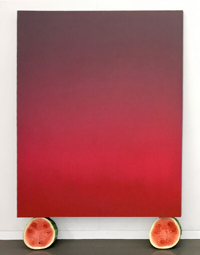 Isaac Aden, 'Untitled (Pink and Grey Tonalist with Watermelons)', 2017