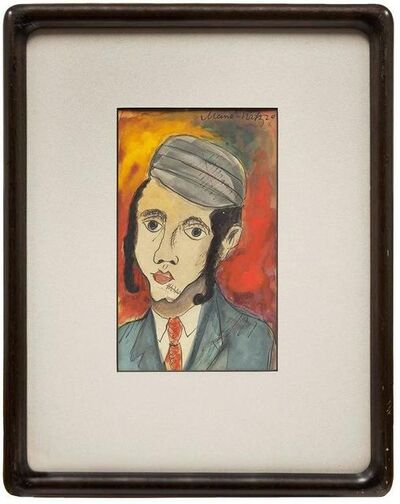 Mané-Katz, 'Hasidic Boy, Judaica Portrait, Ink and Watercolor', 20th Century