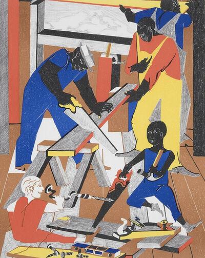 Jacob Lawrence, 'Builders #1', 1972
