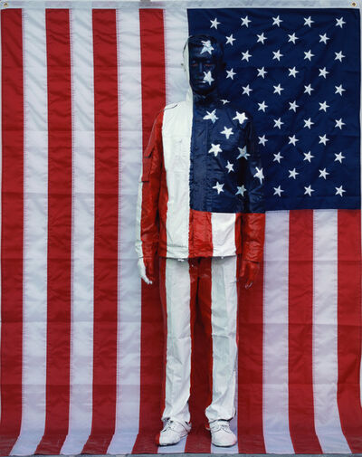 Liu Bolin, 'Hiding in the city - Ameriecan Flag', 2007