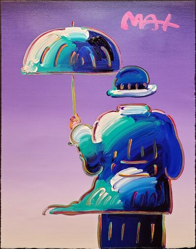 Peter Max, 'Umbrella Man on Purple ', 2014