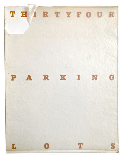 Ed Ruscha, 'Thirtyfour Parking Lots in Los Angeles', 1967