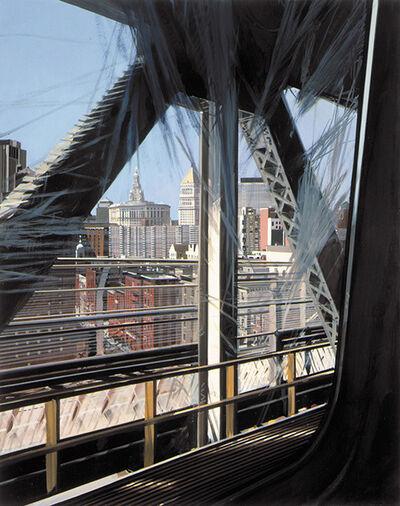 Richard Estes, 'View from the W Train Crossing the Manhattan Bridge', 2003