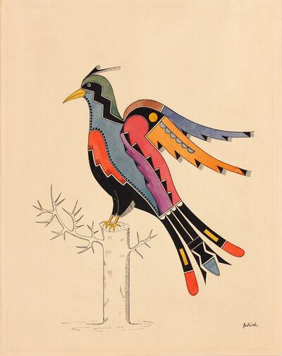 Awa Tsireh, 'Bird; San Ildefonso Pueblo, New Mexico', ca. 1930
