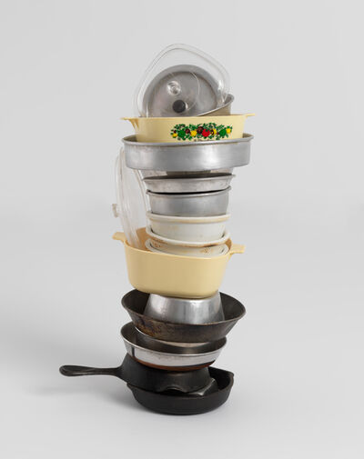 Robert Therrien, 'No title (mini stacked pots and pans VI, two CorningWare), 2006', 2006