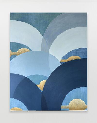Kristine Moran, 'Mad Cap Swimmers - Blue #2', 2021