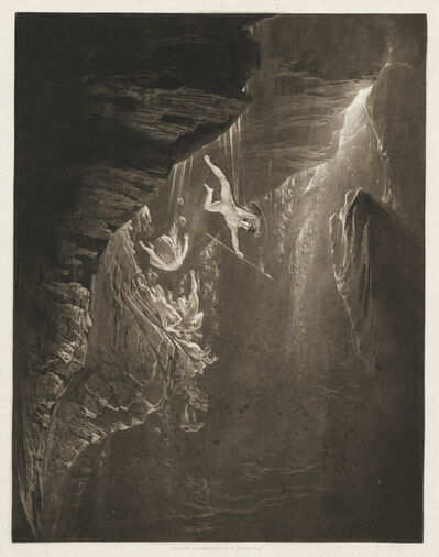 John Martin (1789-1854), 'The Fall of the Rebel Angels, Paradise Lost, Book 1, Line 44', 1825