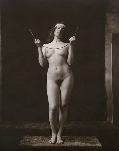 Anonymous Nudes, 'Standing Female Nude Holding Bent Metal Wire', 1912c/1912c