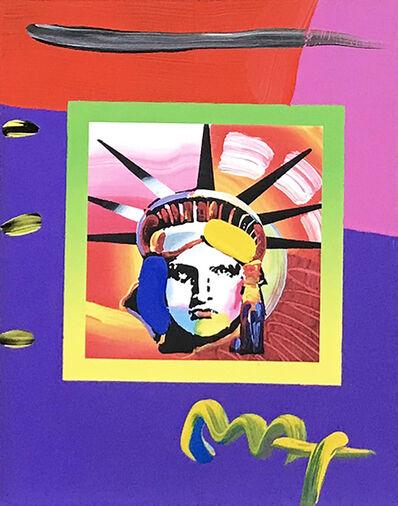 Peter Max, 'LIBERTY HEAD II ON BLENDS', ca. 2000
