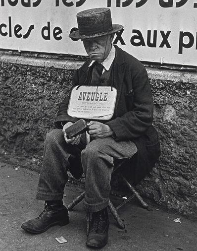 Lisette Model, 'Blind Man, Paris', 1937